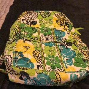 Vera Bradley small backpack Lime's up color
